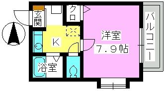 レグラス98 / 305号室間取り