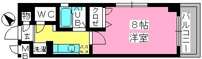コスモコート / 207号室間取り