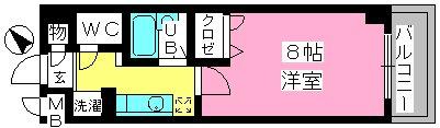 コスモコート / 502号室間取り