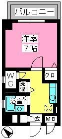 コスモコート / 515号室間取り