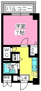 コスモコート / 611号室間取り