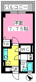 コスモコート / 712号室間取り
