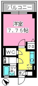 コスモコート / 713号室間取り
