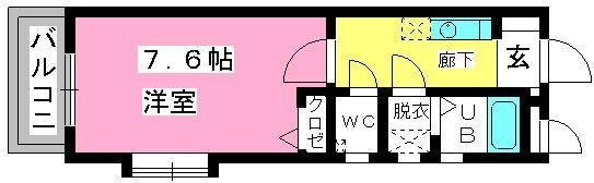 コンフォール井尻 / 201号室間取り