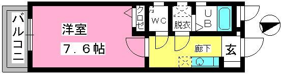 コンフォール井尻 / 202号室間取り