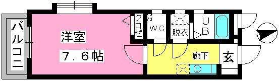 コンフォール井尻 / 403号室間取り