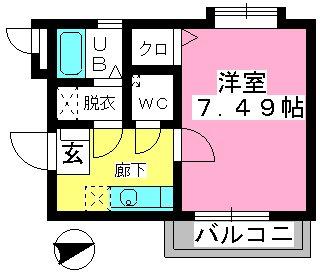 コンフォール井尻 / 405号室間取り