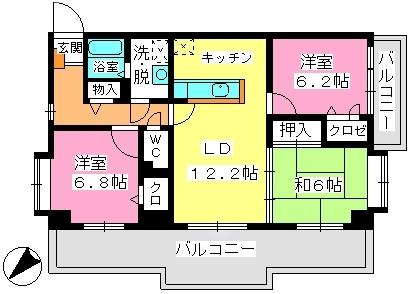 ウィステリア21 / 201号室間取り
