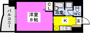 BRILLIANT36 / 206号室間取り