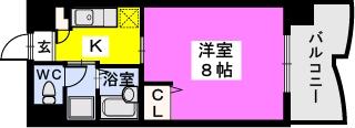 BRILLIANT36 / 603号室間取り