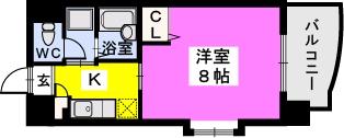 BRILLIANT36 / 605号室間取り