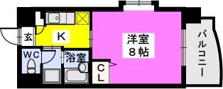 BRILLIANT36 / 701号室間取り