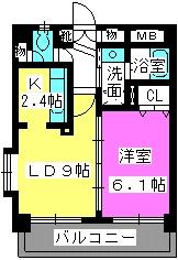 サン・トルース駅南 / 203号室間取り