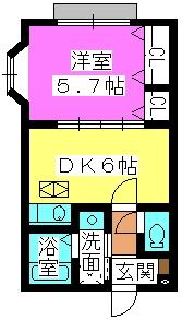 アネックスⅡ(ペット可) / 103号室間取り