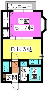 アネックスⅡ(ペット可) / 201号室間取り