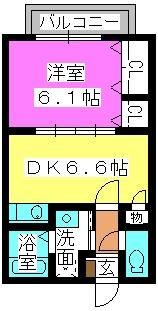 アネックスⅡ(ペット可) / 202号室間取り