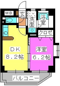 クレセント高宮 / 305号室間取り