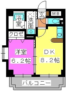 クレセント高宮 / 401号室間取り