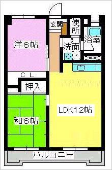 清水コーポ / 301号室間取り