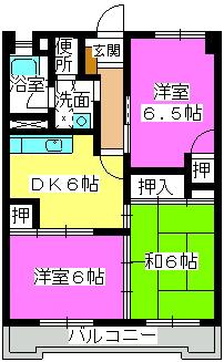清水コーポ / 405号室間取り