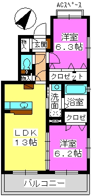 ステラ藤 / 302号室間取り