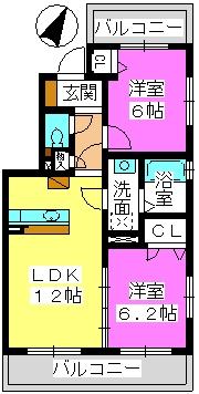 U.ZハイツⅠ / 202号室間取り