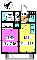 ガルデンハイツ野間 / 203号室間取り