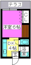 大賀レジデンス / 102号室間取り