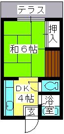 大賀レジデンス / 103号室間取り