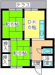 大賀レジデンス / 105号室間取り