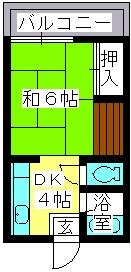 大賀レジデンス / 202号室間取り