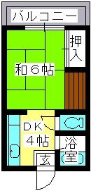 大賀レジデンス / 203号室間取り