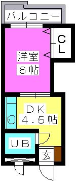 J・Oビル(ペット可) / 306号室間取り