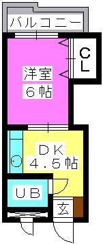J・Oビル(ペット可) / 307号室間取り