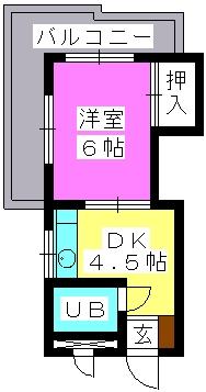 J・Oビル(ペット可) / 501号室間取り