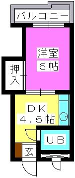 J・Oビル(ペット可) / 502号室間取り