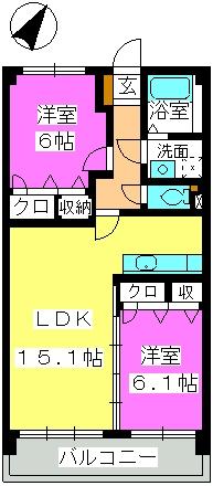 ジェネシスⅡ / 203号室間取り