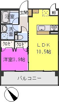 アバンダントsanchiku / 203号室間取り