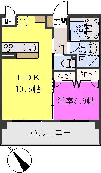 アバンダントsanchiku / 302号室間取り