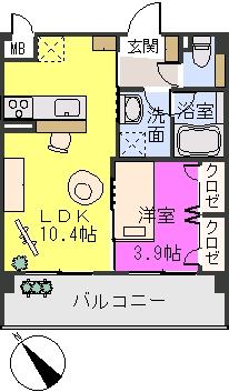 アバンダントsanchiku / 305号室間取り