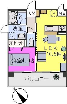 アバンダントsanchiku / 401号室間取り
