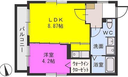 アクシスコート井尻 / 301号室間取り