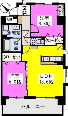 THビル / 305号室間取り