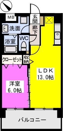 THビル / 402号室間取り
