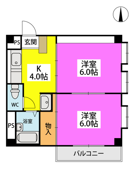 フローレスマンション / 201号室間取り