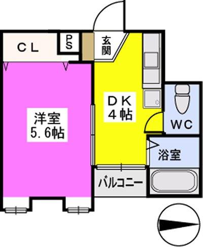 フローレスマンション / 302号室間取り
