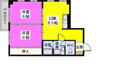 フローレスマンション / 303号室間取り