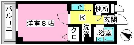 ジュネス井尻駅前 / 206号室間取り