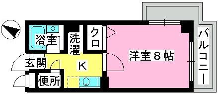 ジュネス井尻駅前 / 401号室間取り