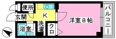 ジュネス井尻駅前 / 502号室間取り
